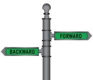 Signpost forward and backward Royalty Free Stock Photo