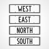 Signpost four cardinal directions Royalty Free Stock Photo