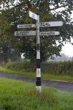 Signpost inglês Foto de Stock