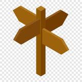 Signpost isometric 3d icon. On transparent background Stock Photo