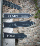 Signpost in istanbul Royalty Free Stock Image
