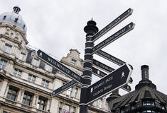 Signpost in London Royalty Free Stock Photo