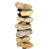 Signpost is made of old worn shoes stock photography