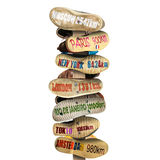 Signpost is made of old worn shoes Royalty Free Stock Photos
