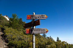 Signpost in Madeira Stock Image