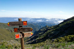 Signpost in Madeira Royalty Free Stock Photos
