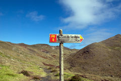 Signpost in Madeira Stock Photography