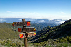 Signpost in Madeira Royalty Free Stock Images