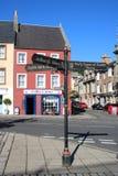 Signpost, Jedburgh Abbey, Castle Jail, Jedburgh royalty free stock image