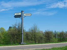 The signpost movement from the past to the future Royalty Free Stock Image