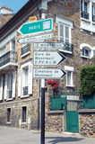 Signpost near Paris Royalty Free Stock Photos
