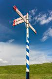 Signpost in the Netherlands Royalty Free Stock Photos