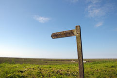 Signpost on North Norfolk coastal path Royalty Free Stock Photography