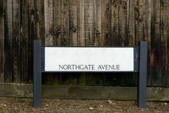 Signpost for Northgate Avenue Stock Image