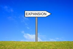 Signpost showing Expansion. Signpost oute is showing Expansion stock photography
