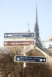 Signpost in Paris Royalty Free Stock Photography