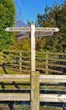 Signpost per il modo del sud dei bassi Fotografie Stock