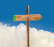 Signpost pointing the way Royalty Free Stock Photography