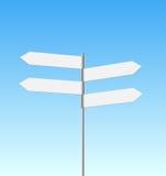 Signpost quatro no fundo do céu ilustração do vetor