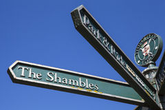 Signpost for The Shambles Royalty Free Stock Photography