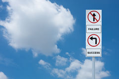 Signpost show direction to success and failure Stock Photo
