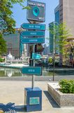 Signpost is showing the different country direction from Kuala Lumpur. Royalty Free Stock Photos
