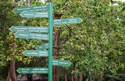 Signpost at Sigiriya Stock Photo