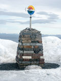 Signpost. Singpost in Norway in Winter Royalty Free Stock Photography