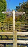 Signpost for south downs way Stock Photos