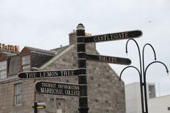Signpost to the Lemon Tree and other destinations Royalty Free Stock Photography