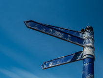 Signpost to nowhere Royalty Free Stock Photo