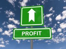 Signpost to profit  Royalty Free Stock Photo