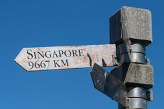Signpost to Singapore Stock Photos