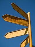 Signpost to the world. At Amantani Island, Lake Titicaca, Peru Royalty Free Stock Photography
