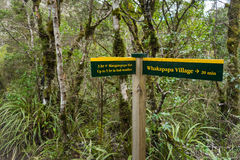 Signpost in Tongariro national park Royalty Free Stock Image