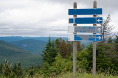 Signpost on top of the mountain Royalty Free Stock Image
