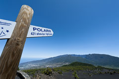 Signpost towards the Polar star Stock Image