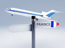 Signpost.travel to europe concept 3d Stock Photo