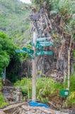 Signpost at Victoria Bay Stock Photography