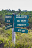 Signpost in Wai-O-Tapu geothermal park, Rotorua, New Zealand Stock Photo