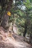 Signpost way to Gokyo, trekking route to the Everest Base Camp royalty free stock photography