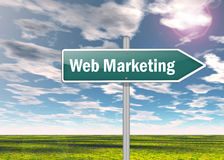 Signpost Web Marketing. Signpost with Web Marketing wording Royalty Free Stock Images