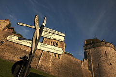 Signpost at Windsor Castle Stock Photos