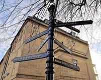 Signpostat Bath, UK Royalty Free Stock Photo