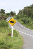 Signposted slope. Royalty Free Stock Image