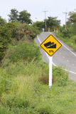 Signposted slope. Stock Images