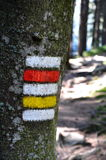 Signposting. On the hiking trail royalty free stock photos