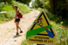 Signposting for mountain biking Stock Image