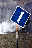 Signposting. The traffic sign with arrow stock photos