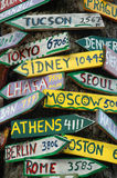Signposts al mondo Immagine Stock Libera da Diritti
